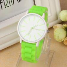 Femmes Hommes Caoutchouc Silicone Jelly Gel ceinture Quartz Sports ado bracelet montres