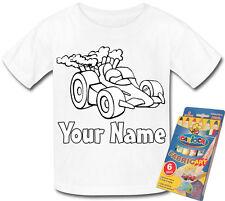 AUTO da corsa colore personalizzato nella propria T-SHIRT * attività divertenti e un regalo con nome *