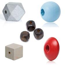 Holzperlen mit Loch • alle Formen / Farben / Größen • Holzkugeln Kugeln Basteln