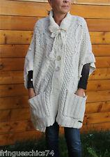grandes chaleco lana blanco invierno MC PLANET T 36 etiqueta DE ALTA GAMA V