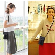 Women Ladies Tassel Phone Style Shoulder Bags Mobile Phone Small Messenger Bag D