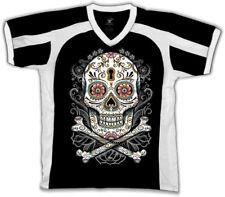 Sugar Skull Day Of The Dead Holiday Tattoos Henna Zombie  Retro Sport T-shirt