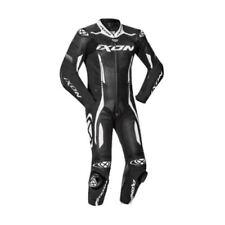 Ixon VORTEX 2 noir / cuir blanc certifié CE Moto biellette Combinaison pilote