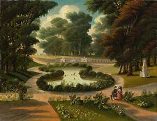 "Thomas Chambers Folk Art : ""Mount Auburn Cemetery"" — Giclee Fine Art Print"
