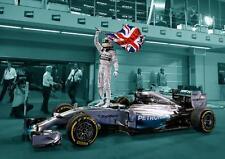 Lewis Hamilton POSTER MERCEDES F1 casco auto wall art print poster foto A3 A4