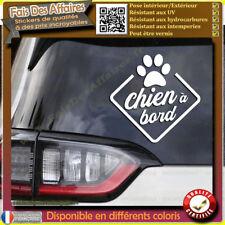 Sticker Autocollant chien à bord voiture decal déco auto vitre animaux compagnie
