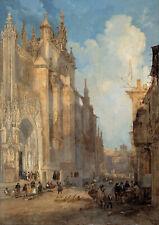 Genaro Pérez Villaamil: Seville Cathedral on the Side of the Steps (004699)
