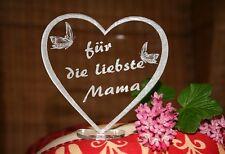 Muttertag Herz Aufsteller Danke Mama Papa Opa Oma Du bist die Beste Alles Liebe