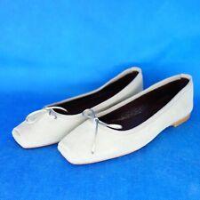 PAOLO SIMONINI Damen Schuhe Ballerinas 36 41 42 Grau Wildeder Leder NP 169 NEU