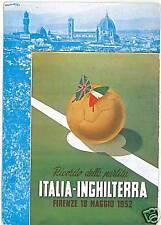 CARTOLINA d'Epoca PUBBLICITARIA: CALCIO FIRENZE 1952