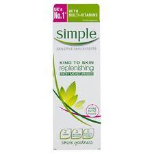 Simple Kind to Skin Replenishing Rich Moisturiser 125ml 1 2 3 6 12 Packs
