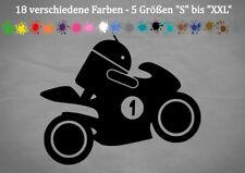Android Bike Auto Aufkleber Motorrad Yamaha Ducati Honda Tuning 18 Farben 5 Größ