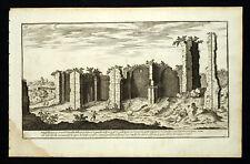 Rome Roma THERMES DE CARACALLA gravure de 1773