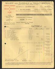 SAULT-BRENAZ (01) USINE de CARREAUX & MOSAIQUES de MARBRE en 1957