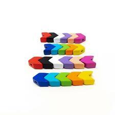 5 x Enamel Metal Tile Beads-Various Colours.  Arrows/Chevrons-0.95cm or 1.2cm