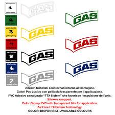 Sticker Sponsor Motocycle Gas Adesivi Vinile prespaziato Helmet  2 Pz. cm. 18