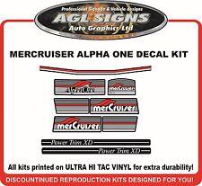 1984 - 1991 Mercury Alpha one Outdrive 9 Piece Decal Kit   Mercruiser