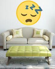 Sleeping Face Self Adhesive Emoji Emoti Gloss Sealed Graphic Wall Decal Sticker