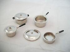 Aluminum Pot Set kitchen dollhouse miniatures   #MA1167 1/12 scale