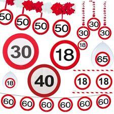 18 30 40 50 60 65 Geburtstag Deko Tischdeko Party Verkehrsschild Schild Jubiläum