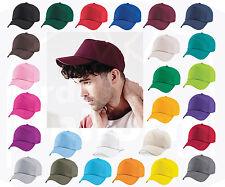 Original 5 Paneles Gorra de béisbol, BEECHFIELD Plain 100% sarga de algodón - 26 Colores