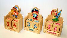 Würfelkalender Kinderkünstler aus Holz für Kinder Dauerkalender Immerwährender