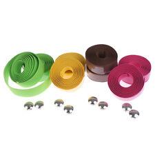 1 Pair Bike Anti-slip Handlebar Tape Cork Bicycle Handle Belt Wrap+2 Bar Plug FD