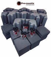 PRo-coustix Ultraflex Complete Studio Pack Foam Tiles, Corner Cubes & Bass traps