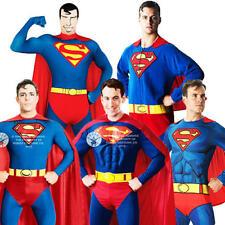 Comic Book Superman Mens Fancy Dress Book Day Week DC Superhero Adults Costume