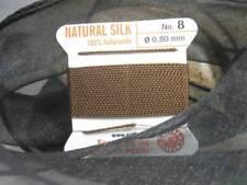 1m=1,5 Euro Dunkelrosa Perlgarn aus Naturseide// 2m