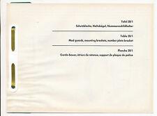 Zündapp 518 Ersatzteilliste Tafel 28/1 Schutzbleche Moped Deutschland Zundapp