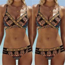 Women Boho Push-Up Padded Bathing Beachwear Bikini Set Bandage Swimsuit Swimwear