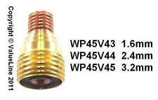 Una COPPIA DI LENTI a gas per l'uso con tutti wp9, wp20 TORCE TIG