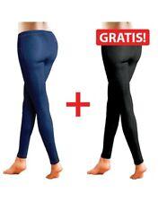 2er Pack Jeggins Skinny Demin Strech Jeans-Leggins Slim-Jeans blau schwarz 36/38