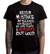 Never Mistake My Silence For Weakness Slogan Men's T-Shirt  - Dexter Emo
