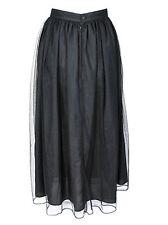 Eternal Love Black Long Mesh Gathered Gothic Skirt S-L