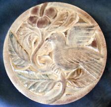 bird dove plaque plastic mold plaster concrete mould