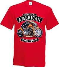 T Shirt in Red Tones with Biker Chopper Pressure Model Original American Chopper