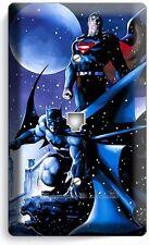 BATMAN VS SUPERMAN WINTER SNOW PHONE TELEPHONE WALL PLATE COVER BOYS ROOM DECOR