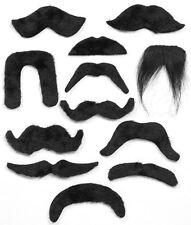 Black Moustache Strong Man Aristocrat Mario 1920s 1970s YMCA Cowboy RAF Vicar
