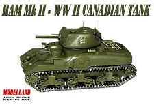 Ram Mk Ii-Segunda Guerra Mundial Tanque canadiense 1/35 Modelland Rara!