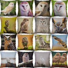 18'' Owl Print pillow case cover sofa car waist cushion cover Home Décor