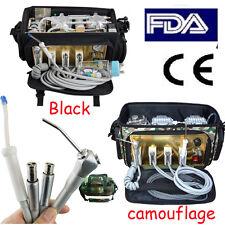 USA Portable outdoor Dental Unit back Bag Air Compressor Suction system oil free