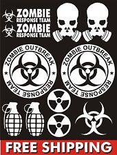 Zombie Outbreak Response Team stickers Vinyl set car JDM for Jeep wrangler truck