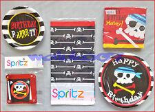 PIRATE BIRTHDAY PARTY SUPPLIES KIDS KIT SET 8 TABLEWARE BANNER PLATE NAPKINS