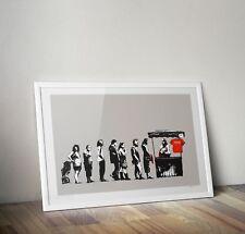 Banksy Destroy Capitalism Graffiti Street Art Poster Print Picture A3 A4