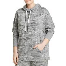 Andrew Marc Womens Knit Marled Long Sleeves Hoodie Top Plus BHFO 6271