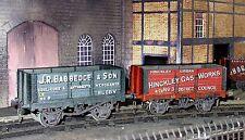 0 Gauge railway card kits Babbedge and HInkley coal wagons G&KER salt vans O kit
