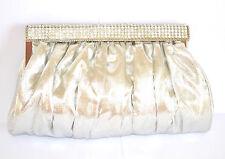 POCHETTE borsello cerimonia donna borsa argento clutch bag strass da sera 960