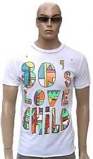 Rare Selten WoW AMPLIFIED 80's LOVE CHILD Rock Star Vintage Löcher T-Shirt g.S